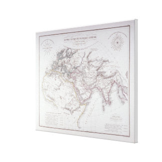 Historical Map of the Known World Canvas Print