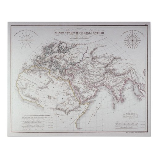 Historical Map of the Known World Poster