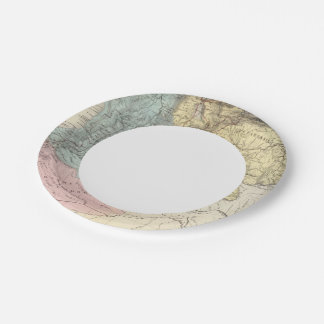 Historical Military Maps of Venezuela 7 Inch Paper Plate