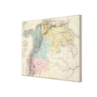 Historical Military Maps of Venezuela Canvas Print