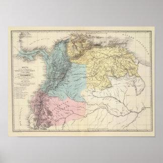 Historical Military Maps of Venezuela Poster