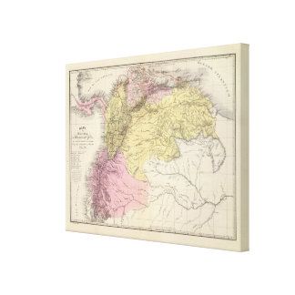 Historical Military Maps of Venezuela Stretched Canvas Print