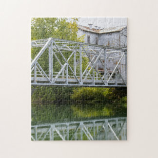 Historical Mill And Bridge Ozark Jigsaw Puzzle