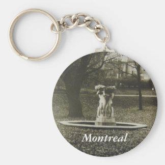 Historical Montreal fountain keychain