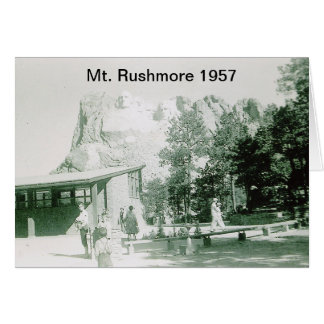 Historical Mt. Rushmore Picture Card