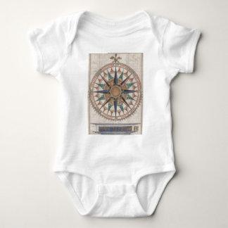 Historical Nautical Compass (1543) Baby Bodysuit