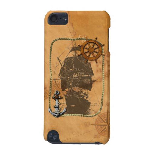 Historical Sailing Ship And Nautical Map iPod Touch (5th Generation) Case