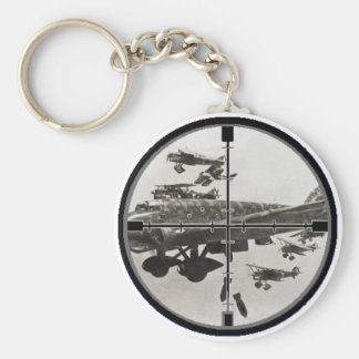 Historical Scope Basic Round Button Key Ring