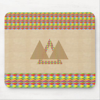 Historical Style PYRAMID Triangle Energy Border Mouse Pad