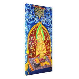 Historical Temple Painting Canvas Print