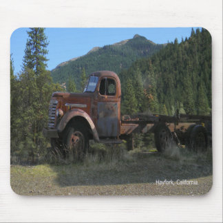 Historical truck in the mountains... mouse pad