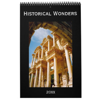 historical wonders wall calendar