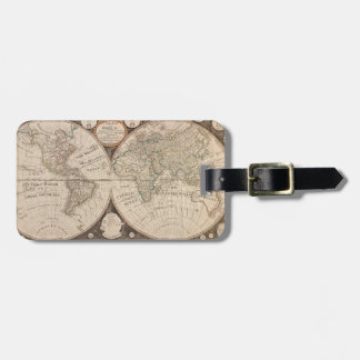 Historical World Map 1799 Bag Tag