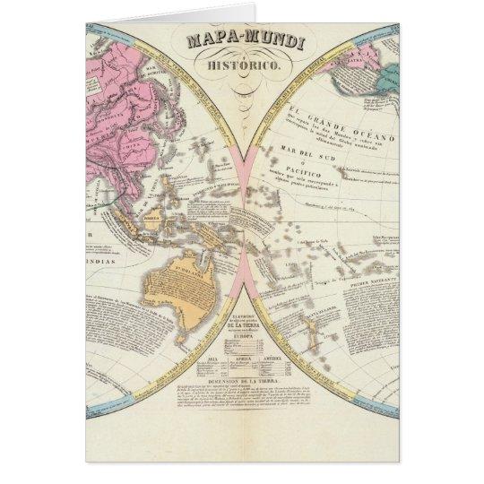 Historical World Map 3 Card