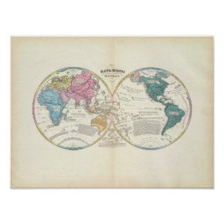 Historical World Map 3 Poster