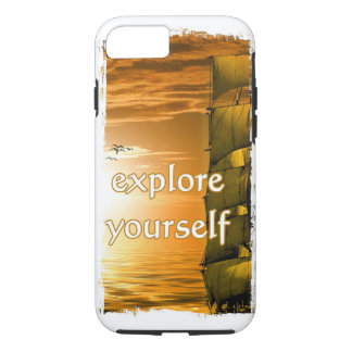 historical world map explore yourself iPhone 7 case