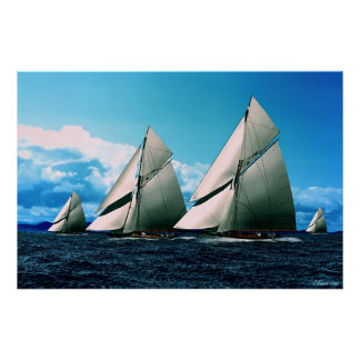 historical yacht race poster