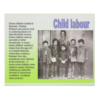 History, 19th century, Dickens, Child labour Poster