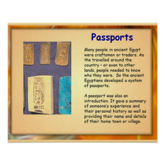 History, Ancient Egypt, Egyptian Passports Poster