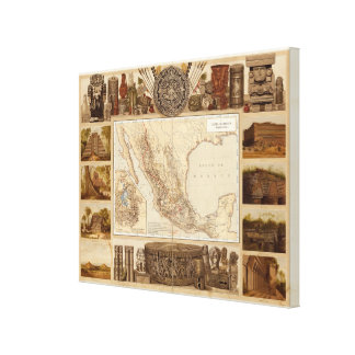 History and Architecture of Mexico Stretched Canvas Prints
