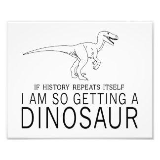 History and Dinosaurs Photo Art