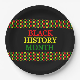 History Band BHM Party Paper Plates