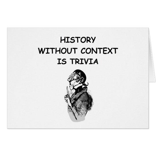 history card