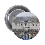 HISTORY: Crowd at Inauguration Ceremony Pinback Buttons