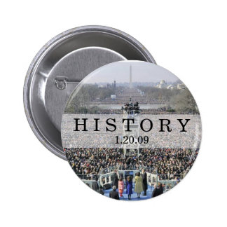 HISTORY: Crowd at Inauguration Ceremony 6 Cm Round Badge
