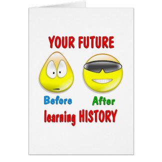 History Future Greeting Card