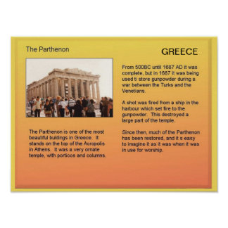 History, Greece, Athens, the Parthenon Poster