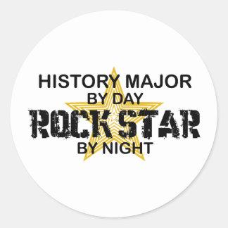 History Major Rock Star Round Sticker