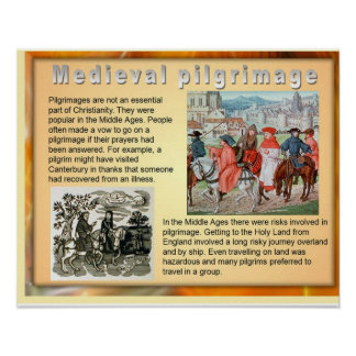 History, Medieval Pilgrimage Poster