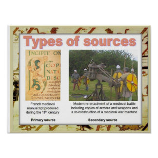 History medieval Types of sources Print