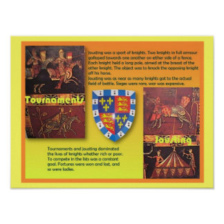 History,  Middle Ages, Medieval tournaments Poster