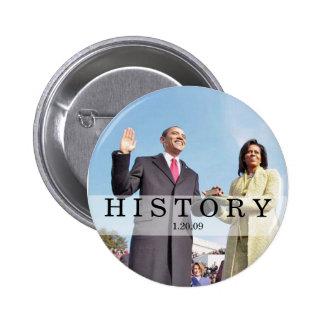 HISTORY: Obama Swearing In Inauguration Ceremony 6 Cm Round Badge