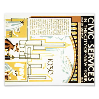 History of Civic Services in the New York Poster Photographic Print