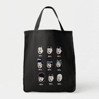 History of Mens Hair Tote Bags
