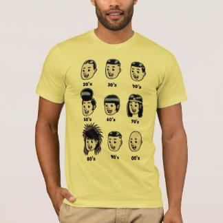 History of Mens Hair T-Shirt