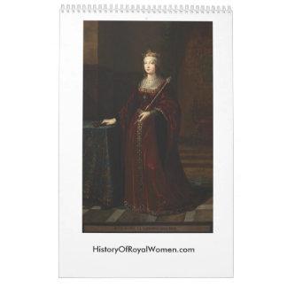 History of Royal Women 2017 Calendar