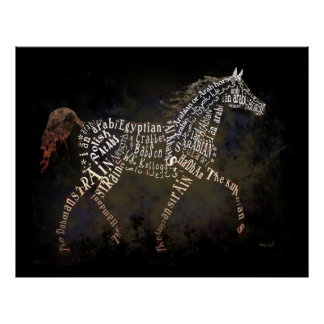 History of the Arabian Horse Poster