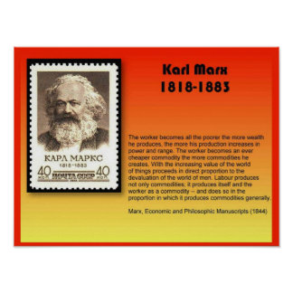 History, Politics, Karl Marx 1818-1883 Poster