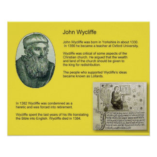 History, Reformation, John Wycliffe Poster