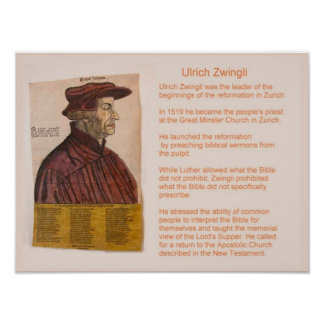 History,  Religion, Reformation, Ulrich Zwingli Poster