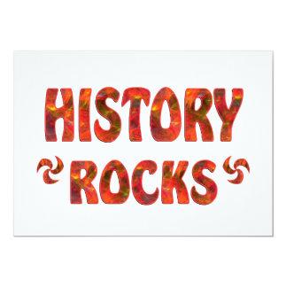 "HISTORY ROCKS 5"" X 7"" INVITATION CARD"