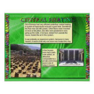 History, Romans, Central heating Poster