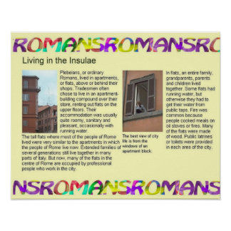 History Romans Living in the Insulae Posters