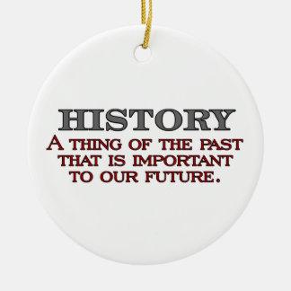 History Round Ceramic Decoration
