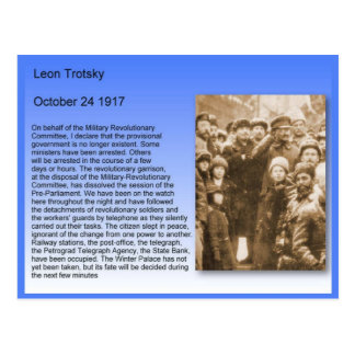 History,  Russian Revolution, Trotsky Speech 1917 Postcard