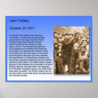 History,  Russian Revolution, Trotsky Speech 1917 Poster